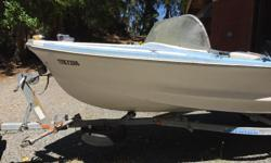 Boat is in poor/fair condition. Had been sitting in water and had a bad patch job done. The trailer is what is worth something. It is in good condition. Must take both.