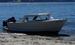 """Equipped with 2014 df 140 Suzuki (low hrs) and 2014 9.9 suzuki kicker. Great fishing boat ready to go for salmon and Hali. Comes with 2 Scotty downriggers 5"""" Lowrance gps / sonar, life jackets, safety kit, 400' of braided anchor line rigged up for halI"""