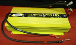 1750 watt DC to AC GO POWER 1750 HD inverter, inventory #144028-1. Price of $259 includes all taxes. PLEASE REFER TO INVENTORY #144028-1 WHEN INQUIRING. We also have more items for sale at The Bay Street Broker located on the corner of Bay and Government