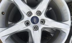 "Summer clearance at the Tire Exchange!!! Check out this stock set of 4, Ford Focus Titanium wheels! 5X108, 18"" priced to sell at 200.00 Check out our Facebook page for specials, coupons and give a ways!!!!"