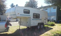 Nice small 5th wheel. Easy to tow and fits in so many places. Just replaced all trailer brakes and leaf springs ($2000) $4200 with Ford 5th wheel tailgate The truck can go with it. Complete package ready to drive off, $7500. Won't sell the truck without
