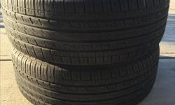 SET OF TWO TIRES. KUMHO SOLUS KL21 SIZE 235-55-18 / 100H M+S FOR SALE. $110.00 BOTH OF THEM. 604-518-8800 no emails please