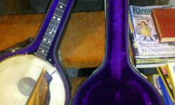 1920's Van Eps Irish Tenor Banjo 4 string, 17 fret, signed, numbered (#84), c/with hard case. Offers considered.