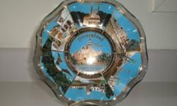1960's Disneyland - Tourist Collectible Dish with ruffled edges. (no chips)