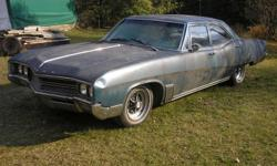 UP for sale is a 1967 Buick wildcat Sedan it is powerred by Buicks famous 430 Bigblock V8 that runs auto, tilt steering comes with 7 Buick factory rally rims and caps . This car could be redone or parted out as the drivetrain and wheels are worth this