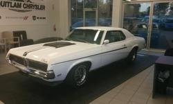 Make Mercury Colour White, black stripes, blue interior Trans Automatic kms 180000 This Cougar Eliminator is a completely restored car, have all books and images to be provided to customer before purchase. The new standard Cougar engine was a