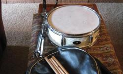1970's Raven Snare Drum with stand and case in great condition.