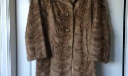 "Beautiful blonde colour mink paw coat. Approximately size 12. Purchased in 1970s. 41"" long. In excellent condition."