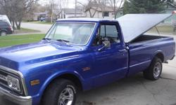 freshley painted, restored 72 gmc, 383 stroker crate engine less than 500 kms on it, 350 turbo tranny, new interior, new bumpers, grill, rad, etc. factory tac ,beautiful looking truck.
