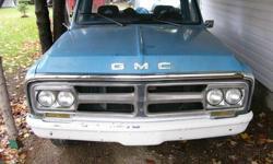 1972 Gmc C10 NEVER SEEN SALT 6 cylinder three speed  and is on the road.New dash pad corners and rockers. Going to put away DEC.1 3900.00 OBO.