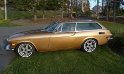 This wagon is in excellent condition inside and out The fuel injected motor and overdrive transmission work well The seats have new leather, and the carpet is new The radio looks stock but is MP3 and memory stick compatible The tires are new and the rims