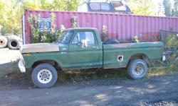 Perfect truck for hauling wood/sled 1977 Ford F250 4x4 has 79 grill 400 V8,4 speed manual 93000 miles  $1200 FIRM PHONE 250-423-1560 located in Fernie