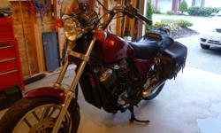 Make Honda Model Shadow Year 1984 kms 30000 1984 Honda VT500C Shadow in excellent condition. New battery and recent repaint. All fluids and fork seals recently done. Tires have lots of tread left. Lots of power for a 500 with two plugs per cylinder, also