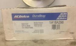 1 pair AC Delco 1/2 ton 2 wheel drive brake rotors, ceramic brake pads and rotor grease seals