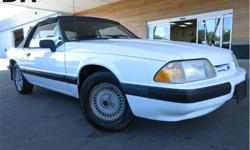 Make Ford Model Mustang Year 1990 Colour White kms 166465 Trans Automatic Price: $4,498 Stock Number: CX3119 VIN: 1FACP44A5LF181154 Interior Colour: Red Engine: 2.3L Fuel: Gasoline Leather Seats, Soft Top, Steering Wheel Controls, Power Windows, Air! This