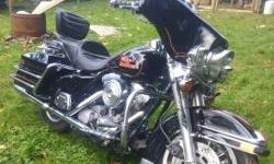 In excellent condition 1990 harley flhs. Ready to go, don't want to sell love the bike.