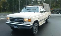 Make Ford Model F-250 Year 1991 Colour beige kms 225000 Trans Automatic 351 V8 auto 4x4. Decent truck just not needed anymore. Open to offers.
