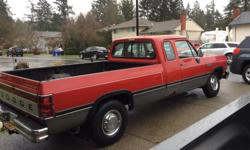 Make Dodge Model Ram 2500 Club Year 1992 Colour Red kms 371195 Trans Automatic 1992 Dodge Cummins Diesel Was a daily driver, right front upper a-arm broken.