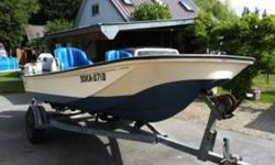 1993 Armstrong 17' Surf Whaler in excellent condition with 1993 75HP Suzuki 2 stroke Oil Injected Motor and 2006 Johnson 8H 4 Stroke Kicker on a galvanized EZ Loader trailer. Ready to go and FISH!!
