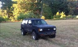 Make Chevrolet Model S10 Blazer Year 1993 Colour Black Trans Automatic Runs good, transfer case recently replaced, 33 inch tires