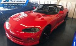 Make Dodge Model Viper Year 1993 Colour Red kms 53 Trans Manual Price: $109,995 Stock Number: UVM0483 VIN: 1B3BR65E8PV200483 Engine: 8.0L 10 Cylinder Engine Fuel: Gasoline Check out our large selection of pre-owned vehicles today! Compare at $113295 - Our