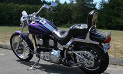 Original owner, No accidents, Excellent condition. Purchased and maintained by Steve Drane Harley Davidson and Andrew Peters, Victoria BC. Many upgrades, see below & photos. front end: -chrome front wheel (stock is stainless steel) -chrome spokes (stock