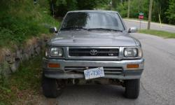 Make Toyota Colour Tristan Trans Manual kms 350000 Great little truck. Runs like a dream, 4x4 works smooth. Both front CV axles replaced in the last year. Smooth clutch and shifting. Perfect for shuttling bikes and getting to the ski hill and back. Comes