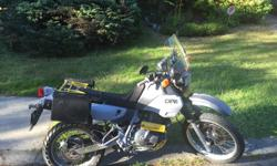 Selling my DR650, it's a great bike in great condition. Selling as I've upgraded to a newer machine. New items on bike: Aftermarket windshield Custom painner New 50/50 tires New battery New spark plugs New mirrors New paint job, along with new fabric on