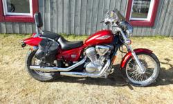 im selling a very nice little 600cc honda shadow,bike is great shape and runs perfect,great bike for new rider or lady driver,has recent new back tire and brand new front tire just installed,has backrest,saddle bags,windsheild,very reliable bike,needs