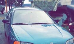 Make Honda Model Civic Colour Turquoise Trans Manual Good little car has some dents in the body, it looks like a 4/10 but there is nothing wrong with it. Drives great, reliable, has been my daily driver ! 5spd standard, clean interior, amazing on fuel
