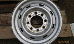"""8 BOLT STEEL RIMS . 16"""" NICE AND STRAIGHT FACTORY"""