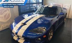Make Dodge Model Viper Year 1996 Colour Blue kms 5034 Trans Manual Price: $89,995 Stock Number: UR0553 VIN: 1B3ER69E1TV200553 Interior Colour: Black Engine: 400HP 8.0L 10 Cylinder Engine Fuel: Gasoline Low Mileage! Check out our large selection of
