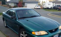 Make Ford Model Mustang Year 1996 Colour Green kms 250000 Trans Automatic 1996 Ford Mustang. Great shape inside and out. 6 cyl automatic. New rear brakes and rotors. Tires in good shape. Must sell, no room in the driveway.