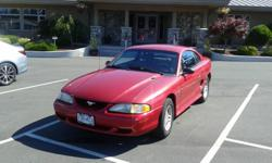 Make Ford Colour red Trans Automatic kms 85000 1996 ford Mustang automatic transmission, V6. Only 85,000 kms, excellent condition and lady driven