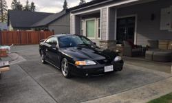 Make Ford Year 1996 Colour Black Trans Manual 1996 Mustang Cobra - Rare factory race that is absolutely flawless. Black on black full load pure stock except for slightly lowered + Borla stainless exhaust. Never been in rain store in climate controlled