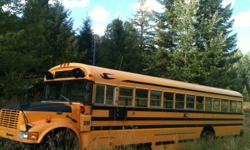 1996 Bluebird school Bus with a 3800 DT466 international engine. Low kms for a large diesel engine, got LOTS of life left. Was purchased from local school board where it had professional safety and mechanical inspection appox every 6 months. Have all