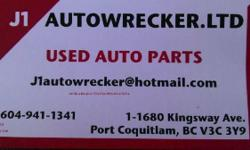 J1-AUTOWRECKER http://www.tricityevents.com/b/bus872.html 1-1680 KINGSWAY AVE PORT COQUITLAM BC, V3C 3Y9 MON-FRI 9AM-6:30PM SATURDAYS- 9AM-5:00PM SUNDAY- CLOSED #604-941-1341 JAPANESE AUTO PARTS *WE HAVE ONLY JAPANESE AUTO PARTS. *AUTO PARTS, RIMS, TIRES,