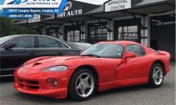 Make Dodge Model Viper Year 1997 Colour Red kms 2681 Trans Manual Price: $78,995 Stock Number: UVM2515 VIN: 1B3ER69E6VV302515 Engine: 450HP 8.0L 10 Cylinder Engine Fuel: Gasoline Low Mileage! Check out our large selection of pre-owned vehicles today!