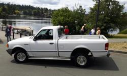Trans Automatic kms 254000 Nice clean little truck that is a 4 cylinder. No rust. Runs great and gets really good gas mileage. Power steering. Automatic with overdrive. Alloy rims.