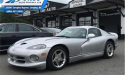 Make Dodge Model Viper Year 1998 kms 9161 Trans Manual Price: $79,995 Stock Number: UVM0719 VIN: 1B3ER69E6WV400719 Engine: 451HP 8.0L 10 Cylinder Engine Fuel: Gasoline Low Mileage! Check out our large selection of pre-owned vehicles today! Compare at