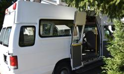 Make Ford Model Econoline E350 Year 1998 Colour White kms 254000 Trans Automatic Great vehicle, has wheelchair lift in the rear which could be used for trades/moving or could be easily removed. Tall enough to stand up in, which is great if using for a