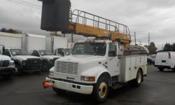 Make International Year 1998 Colour White Trans Manual kms 304035 Stock #: BC0030562 VIN: 1HTSCAAL1WH496373 1998 International 4700 Diesel Bucket Truck with Generator and Air Brakes, 7.6L, 6 cylinder, 2 door, manual, 4X2, cruise control, AM/FM radio,