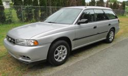 Make Subaru Model Legacy Wagon Year 1998 Colour SILVER kms 165000 Trans Automatic 1998 SUBARU LEGACY 2.2 L, 4 cylinder auto trans. gas miser, has 165,000 k's on it, full load ps, pb. cc. pw. ac . good brakes good tires no leaks no noises very clean car