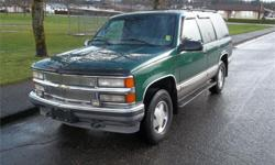 Make Chevrolet Model Tahoe Year 1999 Colour Green Trans Automatic Price: $3,580 Stock Number: 5577 Interior Colour: Grey Engine: V-8 cyl LEATHER PACKAGE WITH FULL POWER GROUP 4X4