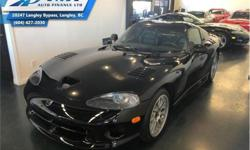 Make Dodge Model Viper Year 1999 Colour Black kms 8000 Trans Manual Price: $94,995 Stock Number: UVM4700 VIN: 1B3ER69EXXV504700 Interior Colour: Black Engine: 450HP 8.0L 10 Cylinder Engine Fuel: Gasoline Check out our large selection of pre-owned vehicles