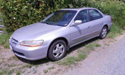 Make Honda Model Accord Sedan Year 1999 Colour silver kms 234000 Trans Automatic nice little car that runs great 4 cly sunroof power windows and locks leather seats . please ph if interested as i don,t check my emails to often thanks. 250 667 5433