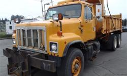 Make International Year 1999 Colour Yellow kms 566439 Price: $8,500 Stock Number: BC0027367 Interior Colour: Black Cylinders: 6 Fuel: Diesel 1999 International 2574 Tandem Axle plow truck dump truck Diesel, M11 Cummins, 10.8L, 6 cylinder, 17550 hours, 2