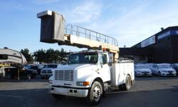 Make International Year 1999 Colour White Trans Manual kms 301006 Stock #: BC0030764 VIN: 1HTSCAAL5XH581721 1999 International 4700 Bucket Truck Diesel with Air Brakes, 7.6L, 8 cylinder, 2 door, manual, 4X2, AM/FM radio, cassette player, white exterior,