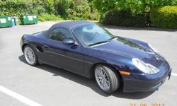 "Make Porsche Year 1999 Colour Ocean Blue Trans Manual kms 121000 Excellent, low miles Porsche Boxster. 2.5 liter, 6 cyl. , 201 H.P. 5 spd. manual- the real thing- you have to drive it- no triptronic! 18"" sport classic wheels ABS brakes dual airbags fog"