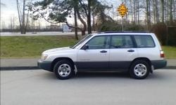 Make Subaru Model Forester Year 1999 Colour Grey kms 256000 Trans Manual Selling my 99 Subaru Forester. Fully loaded with most options: air conditioning, remote locks, power windows, CD player, etc. 2.5L 4-cylinder engine, manual transmission (great